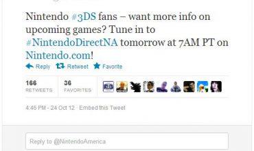 Nintendo Direct North America 10.25.2012 10:00 AM EST